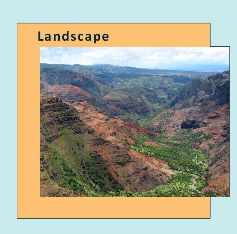 View of Waimea-Canyon, Hawaii